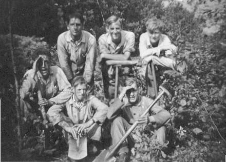 My dad and fellow workers in WW2