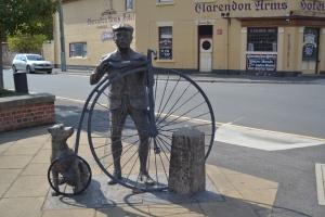 Penny Farthing Rider - Evandale Tasmania