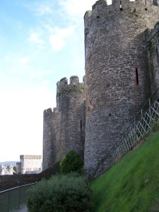 The Rounded Walls of Conwy Castle
