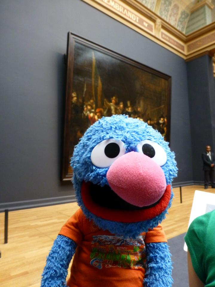 Grover at the Rijksmuseum in Amsterdam